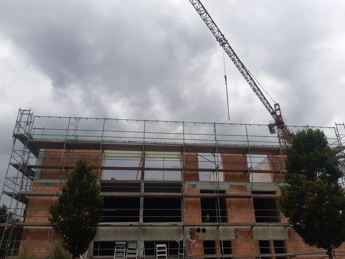 Neubau Seniorenzentrum Langenlonsheim, Stand Juli 2021